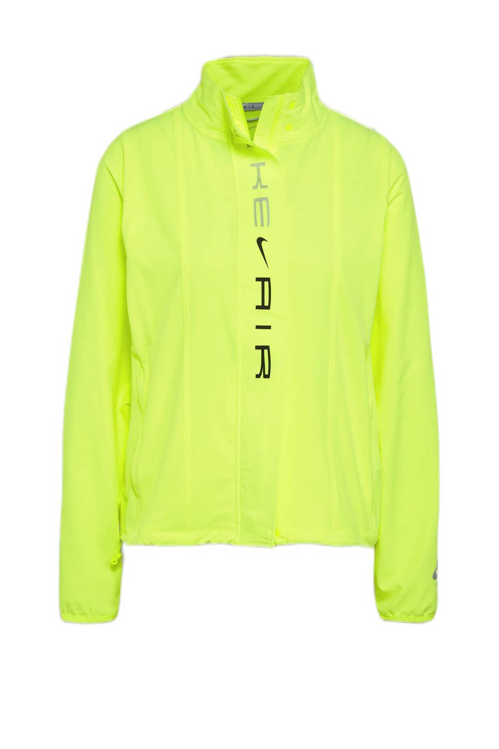 Nike hardloopjack geel, Geel