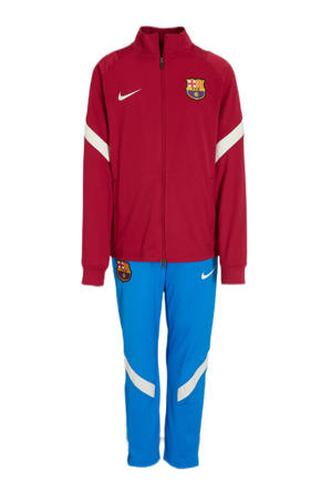 Junior FC Barcelona trainingspak rood/blauw