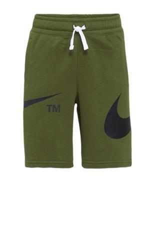 sweatshort groen/zwart