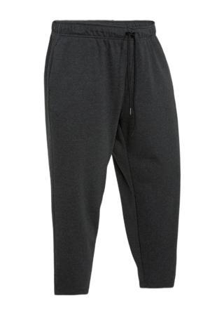 regular fit broek met logo zwart