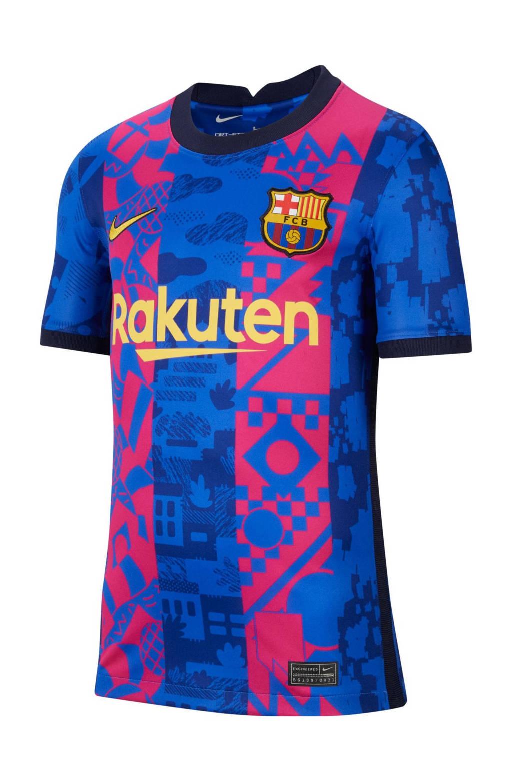 Nike Junior FC Barcelona voetbalshirt blauw/roze, Blauw/roze