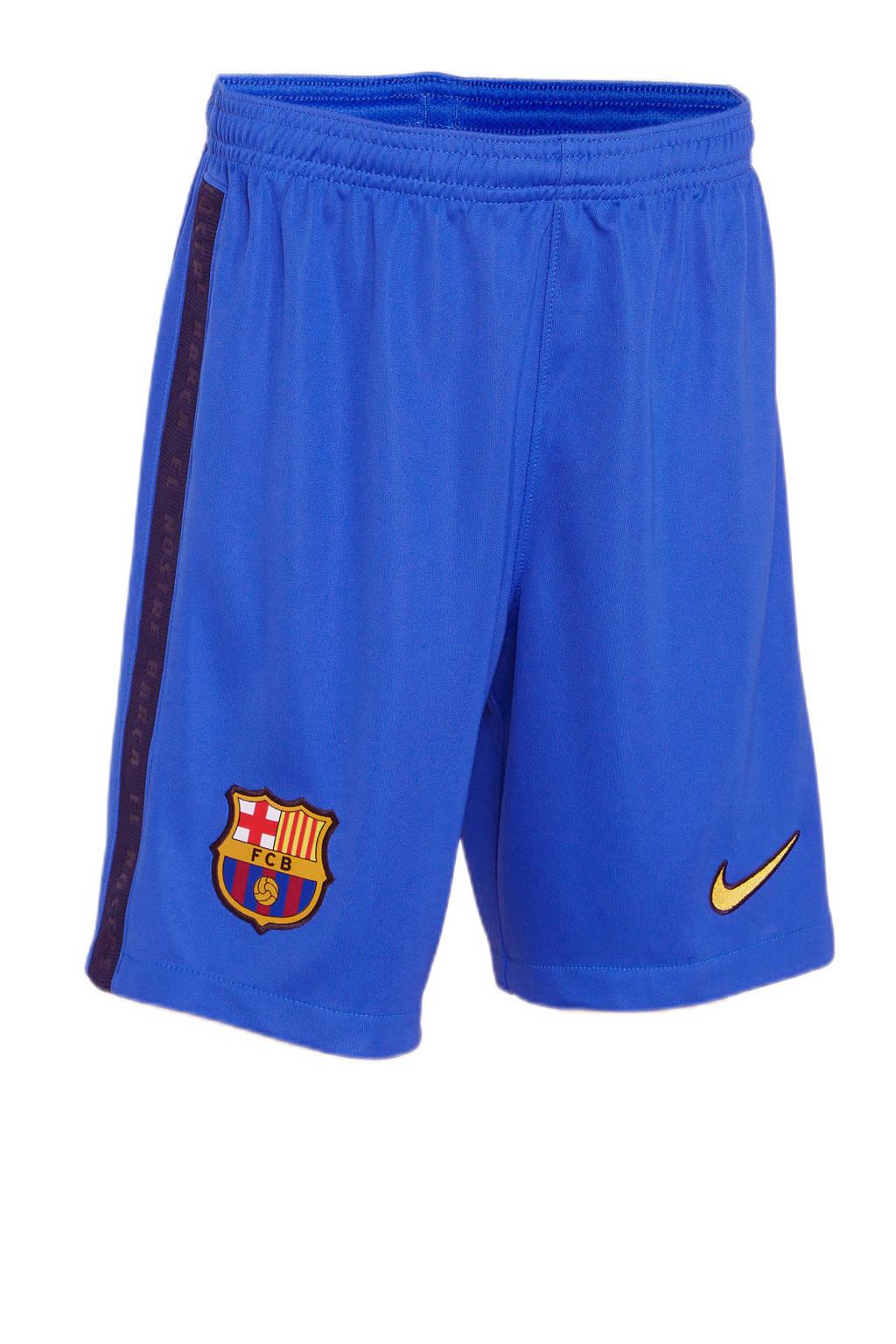 Nike Junior FC Barcelona voetbalshort kobaltblauw, Kobaltblauw