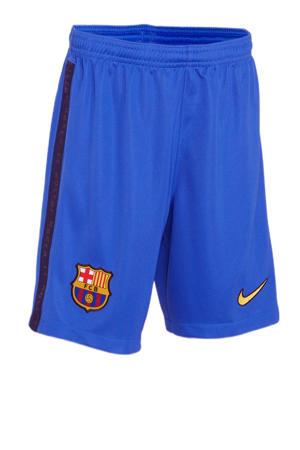 Junior FC Barcelona voetbalshort kobaltblauw