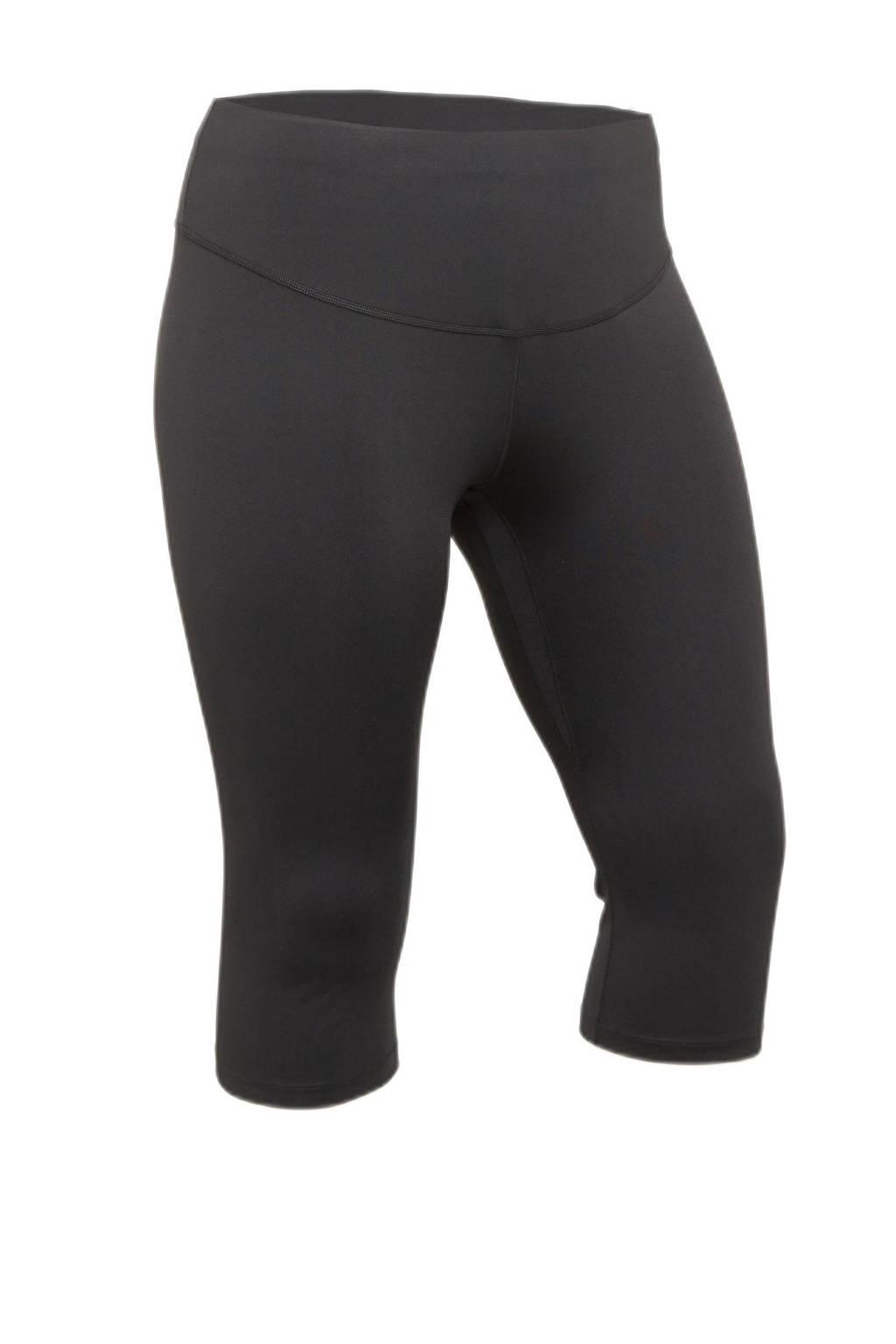 Nike Plus Size sportcapri zwart, Zwart/wit