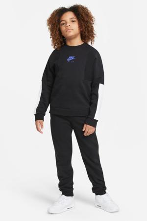 sweater zwart/blauw