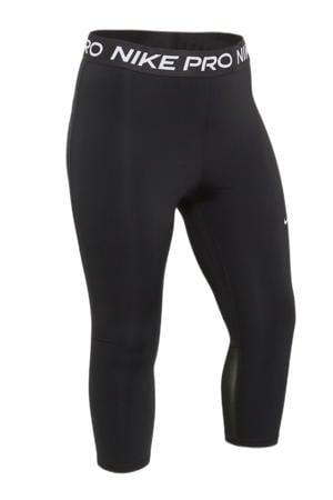 Plus Size 7/8 sportbroek zwart/wit