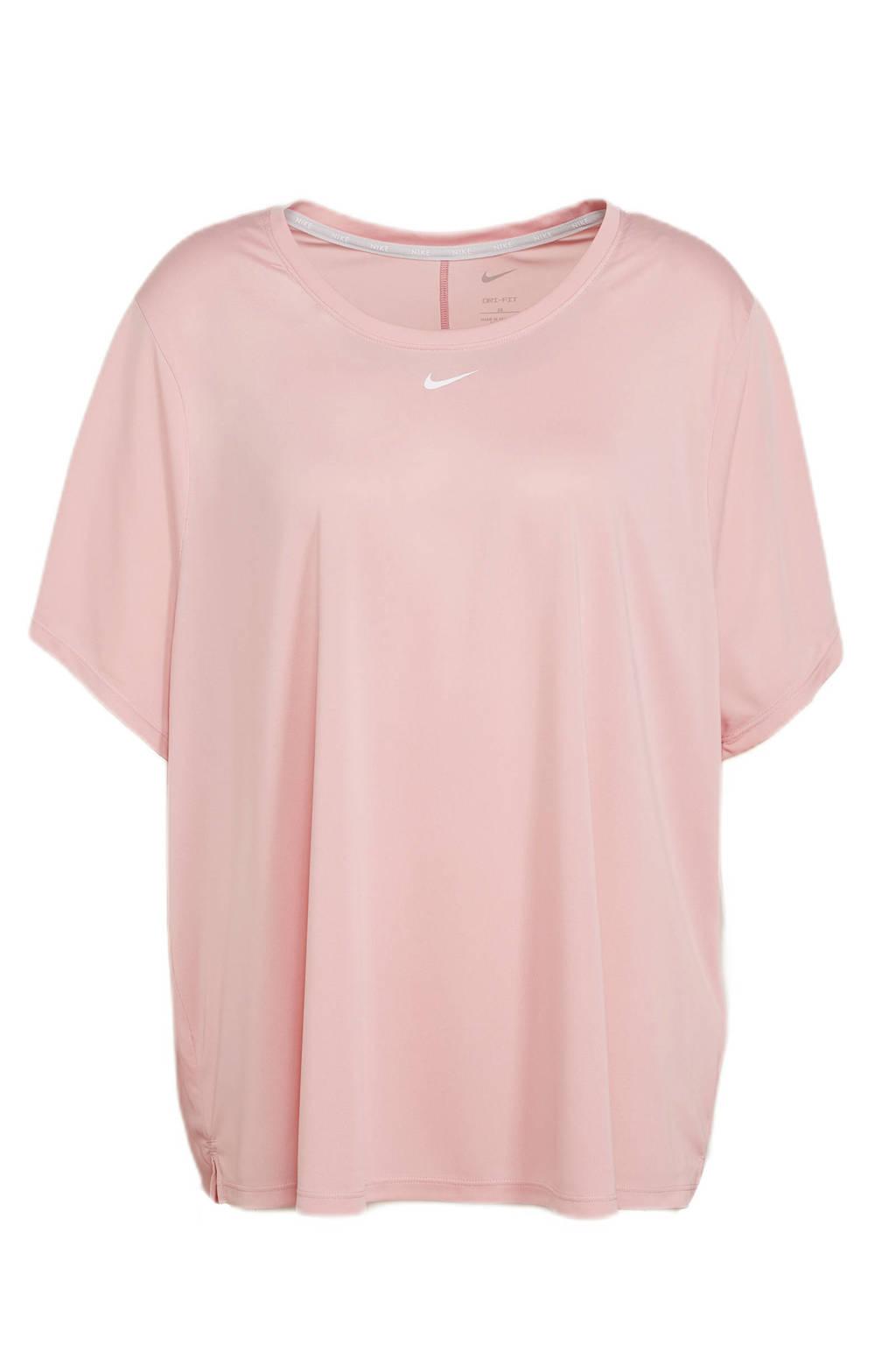 Nike Plus Size sport T-shirt roze, Roze