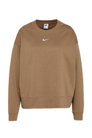 Plus Size oversized sweater bruin