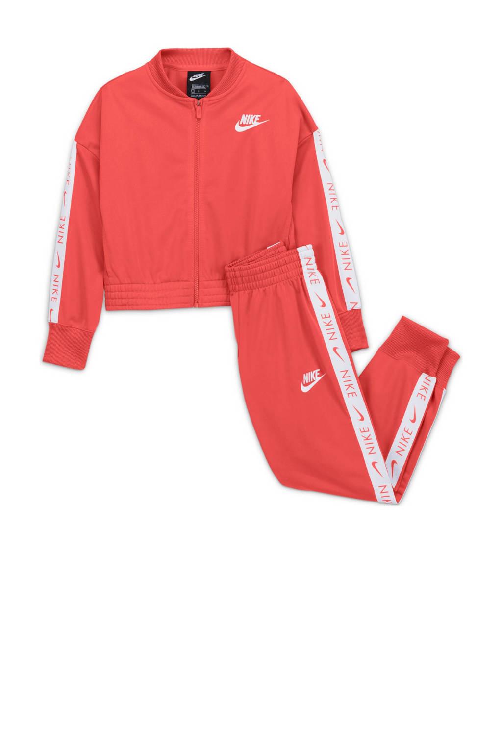 Nike trainingspak oranje/wit, Oranje/wit