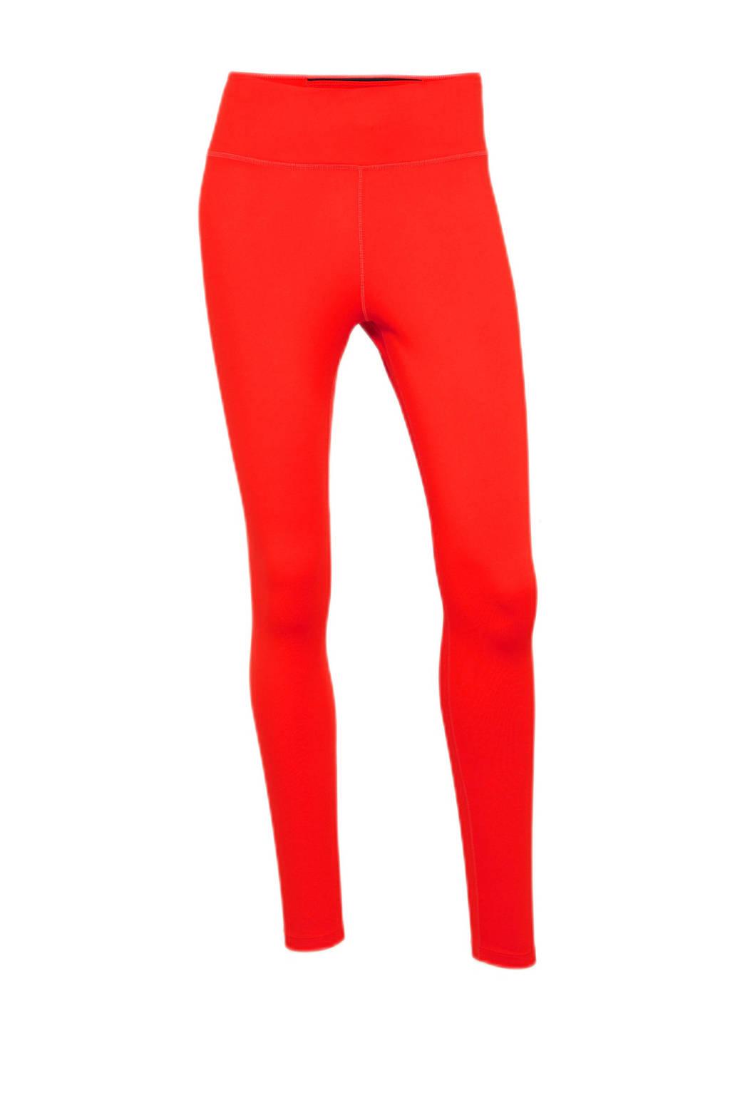 Nike sportlegging rood/zwart, Rood/wit