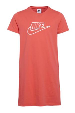 jurk oranje/wit