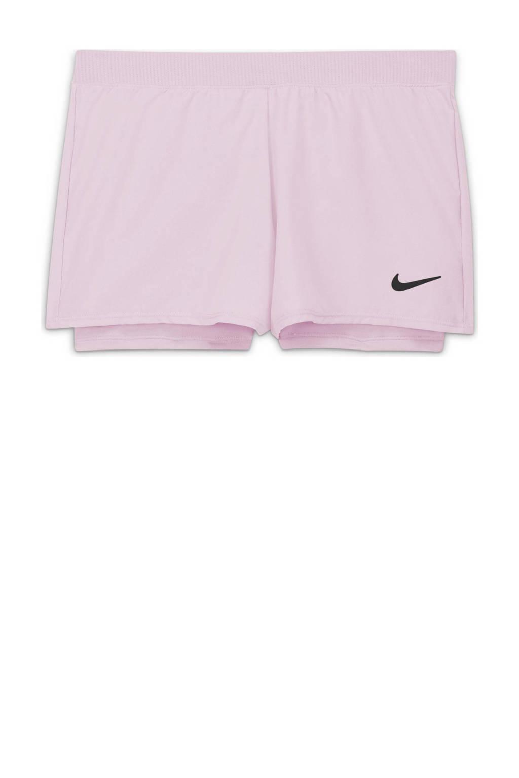 Nike 2-in-1 sportshort lichtblauw, Lichtroze