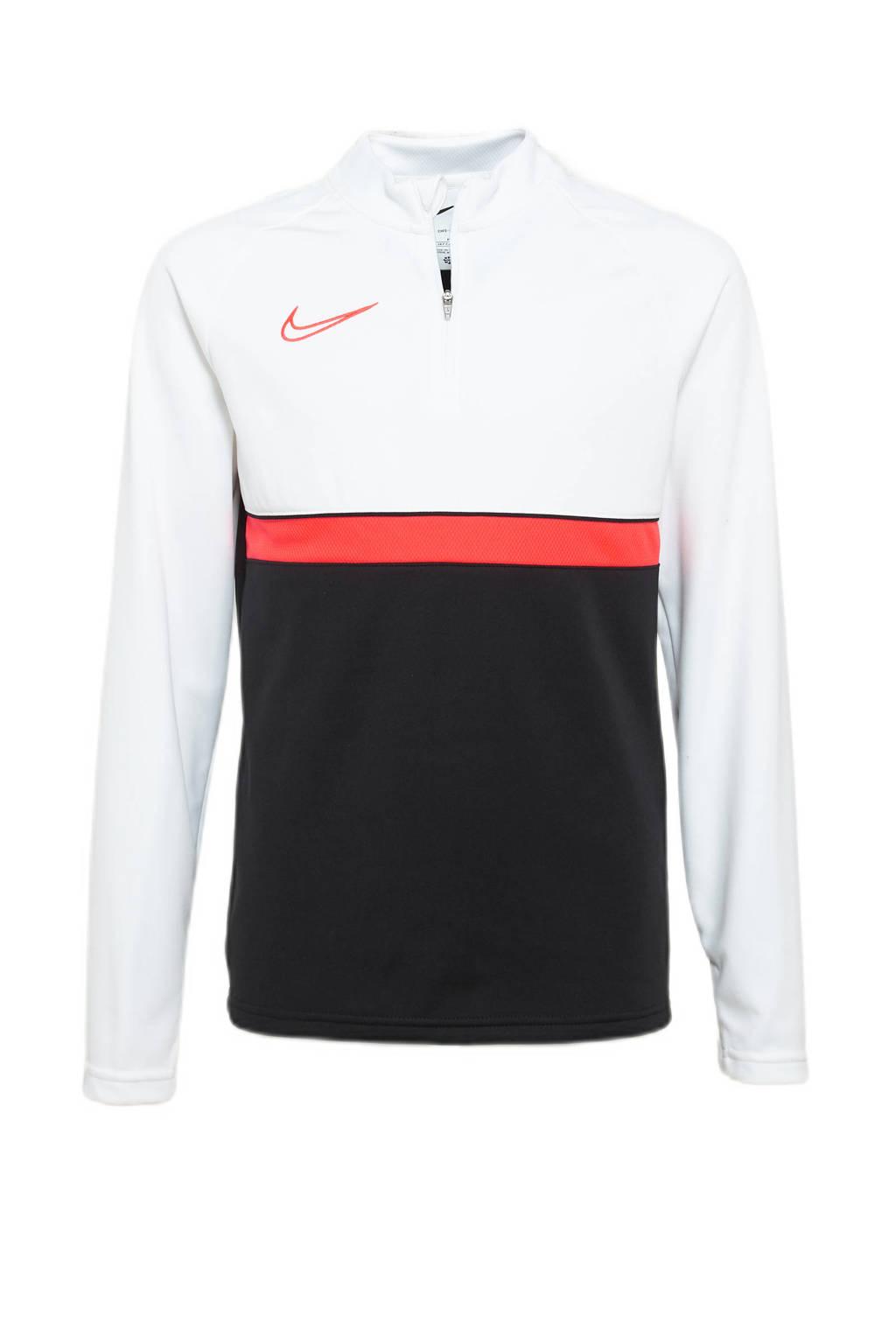 Nike Junior  voetbalshirt zwart/wit/oranje, Zwart/wit/oranje