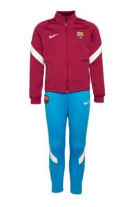 Nike Junior FC Barcelona trainingspak donkerrood/blauw, Donkerrood/blauw