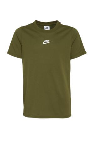 T-shirt groen/wit
