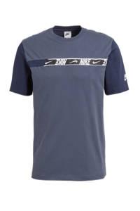 Nike T-shirt blauw/wit, Blauw/wit