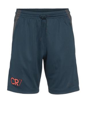Junior  sportshort donkerblauw/oranje