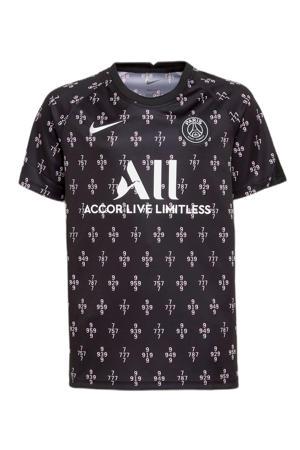 Junior Paris Saint Germain voetbalshirt zwart/wit