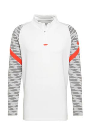 voetbalshirt wit/grijs