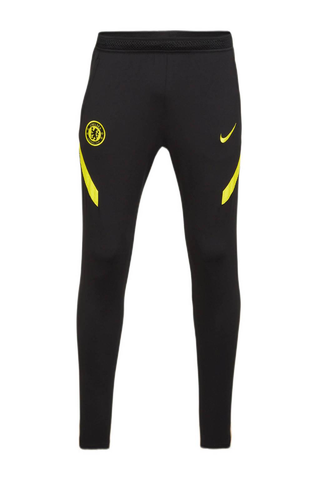 Nike Senior Chelsea  FC voetbalbroek zwart/geel, Zwart/geel