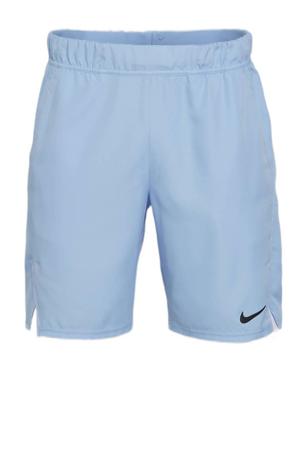 Nike   sportshort lichtblauw/zwart, Lichtblauw/zwart