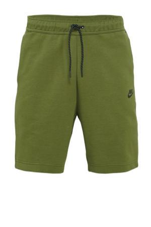 regular fit sweatshort met logo groen