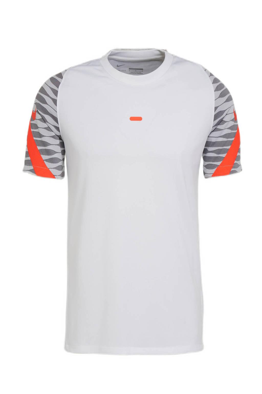 Nike Senior  voetbalshirt wit/grijs, Wit/grijs