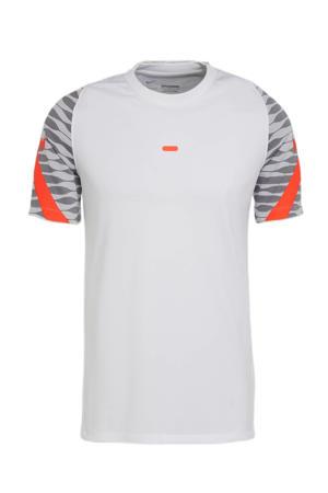 Senior  voetbalshirt wit/grijs