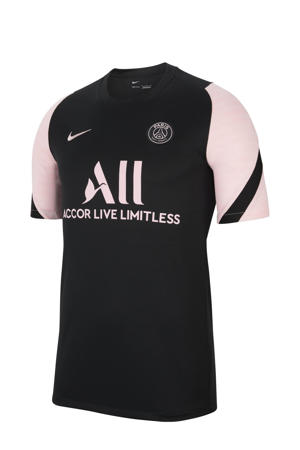 Senior Paris Saint Germain voetbalshirt zwart/lichtroze