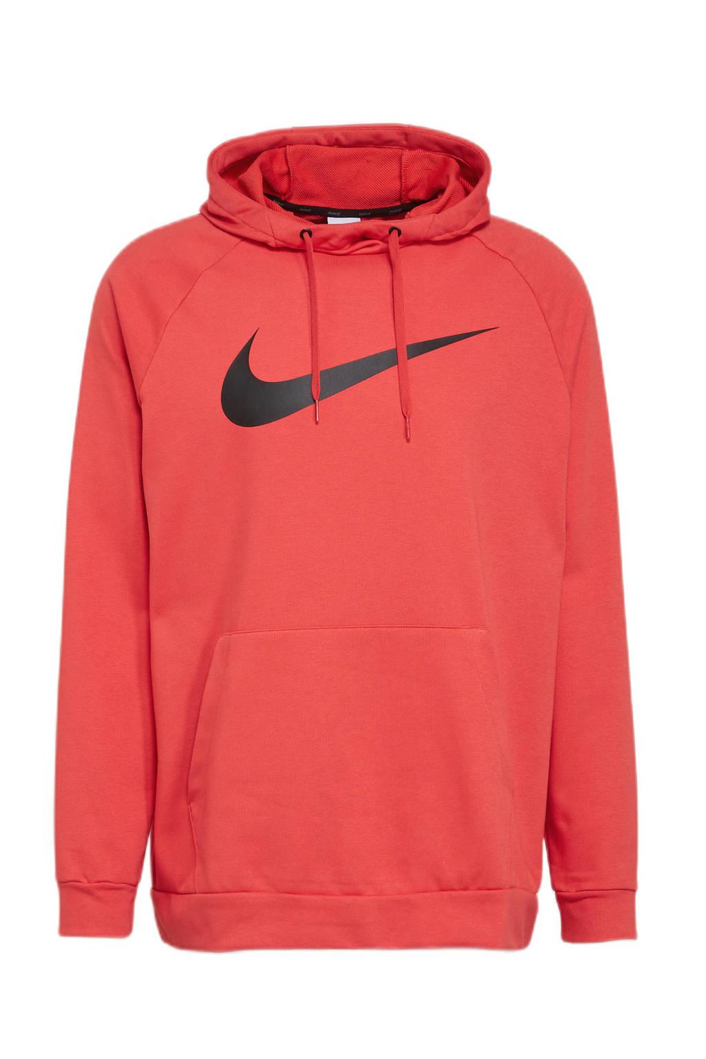 Nike   sporthoodie brique/zwart, Brique/zwart