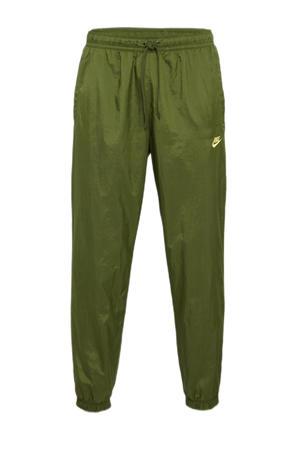 regular fit broek met zijstreep groen