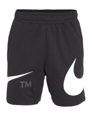 regular fit sweatshort met logo zwart/wit