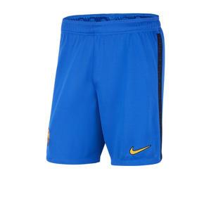 Senior FC Barcelona voetbalshort blauw/zwart