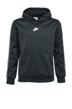 sweater met logo zwart/grijs