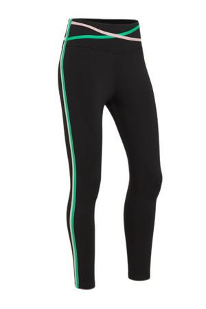 sportbroek zwart/groen/roze