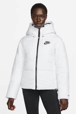gewatteerde jas lichtgroen/zwart