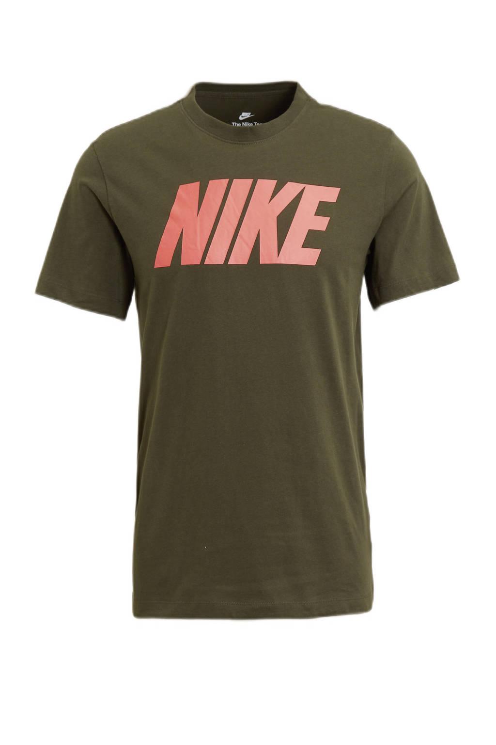 Nike T-shirt zwart/oranje, Zwart/oranje