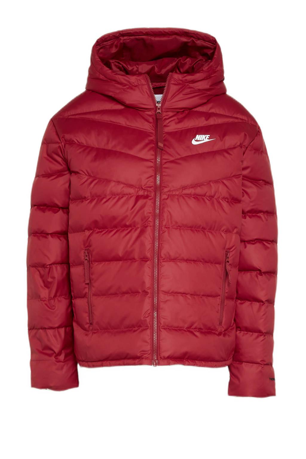 Nike gewatteerde jas met logo rood, Rood