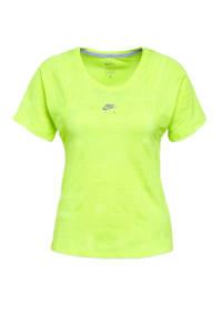 Nike sport T-shirt neon geel, Neon geel