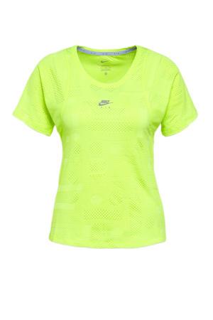 sport T-shirt neon geel