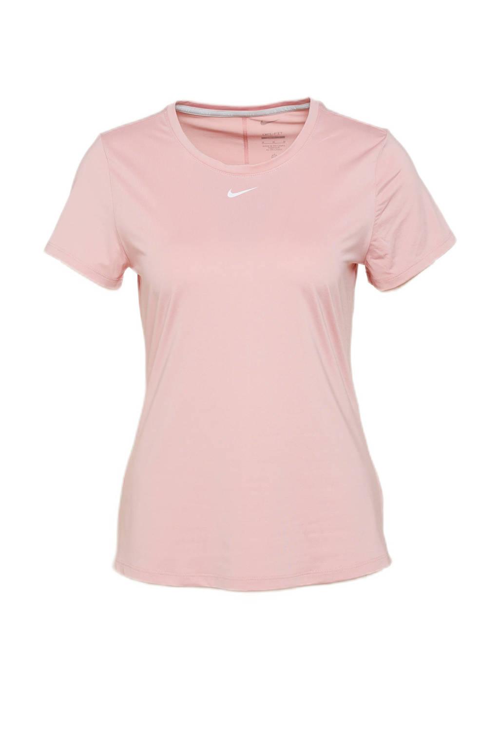 Nike sport T-shirt roze/wit, Roze/wit