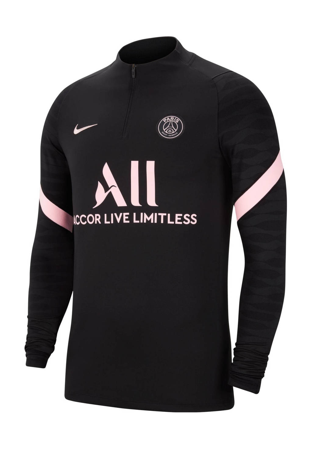 Nike Senior Paris Saint Germain Uit voetbal T-shirt zwart/wit, Zwart/wit