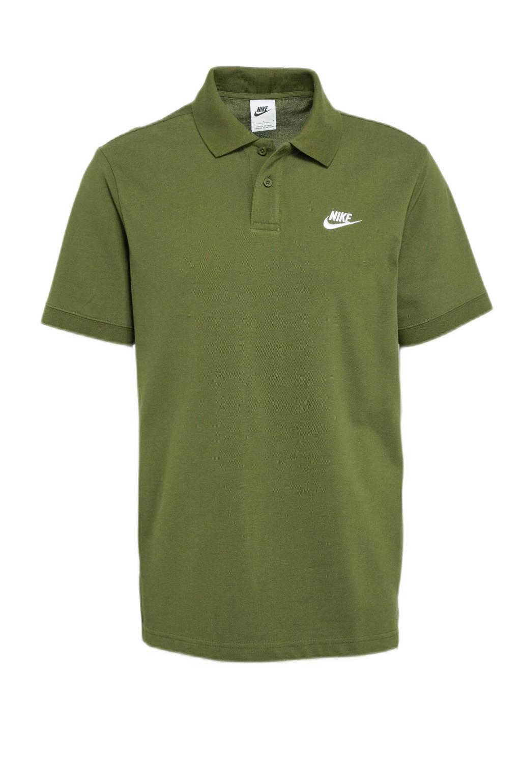 Nike polo kaki/wit
