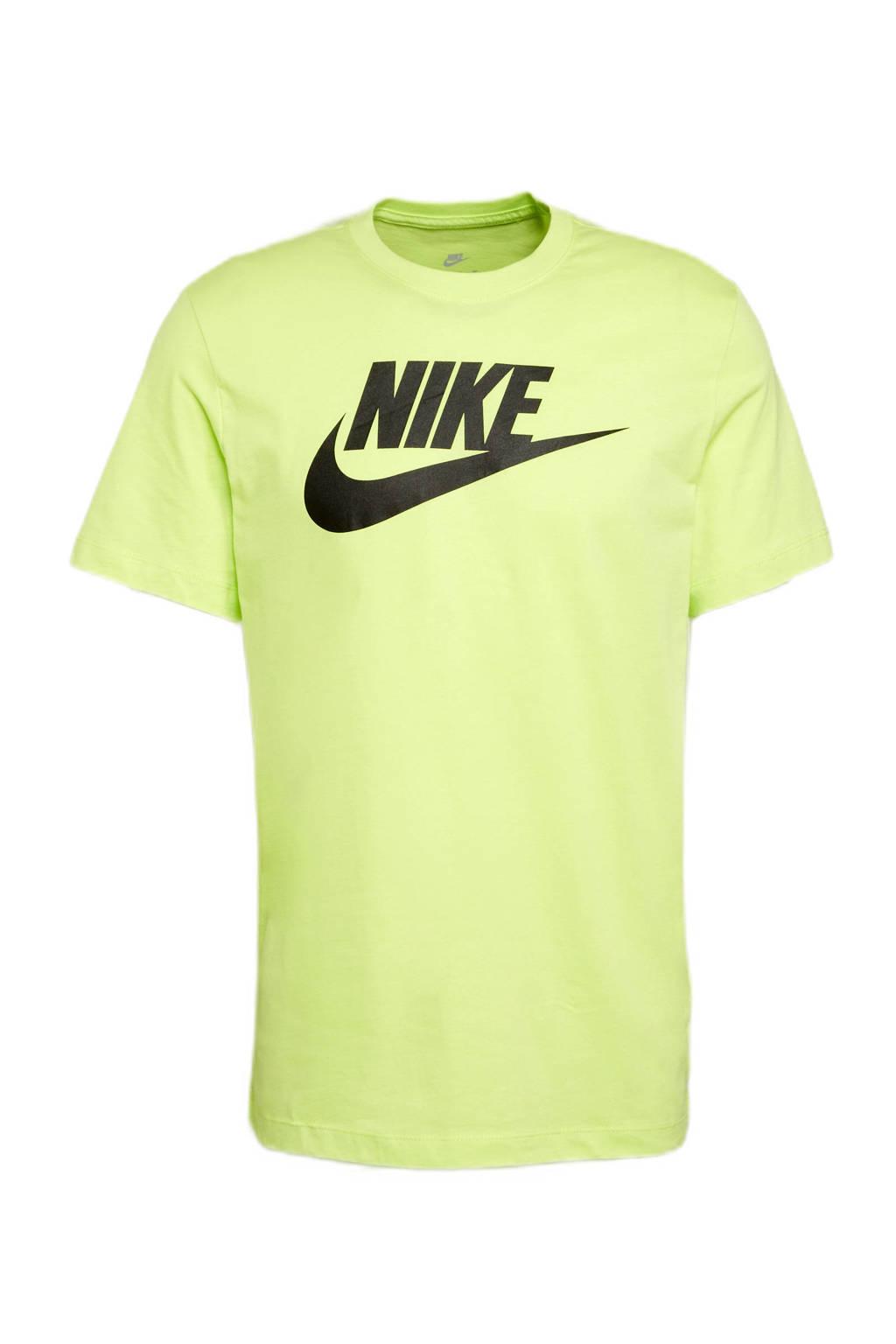 Nike sport T-shirt neon geel/zwart, Neon geel/zwart