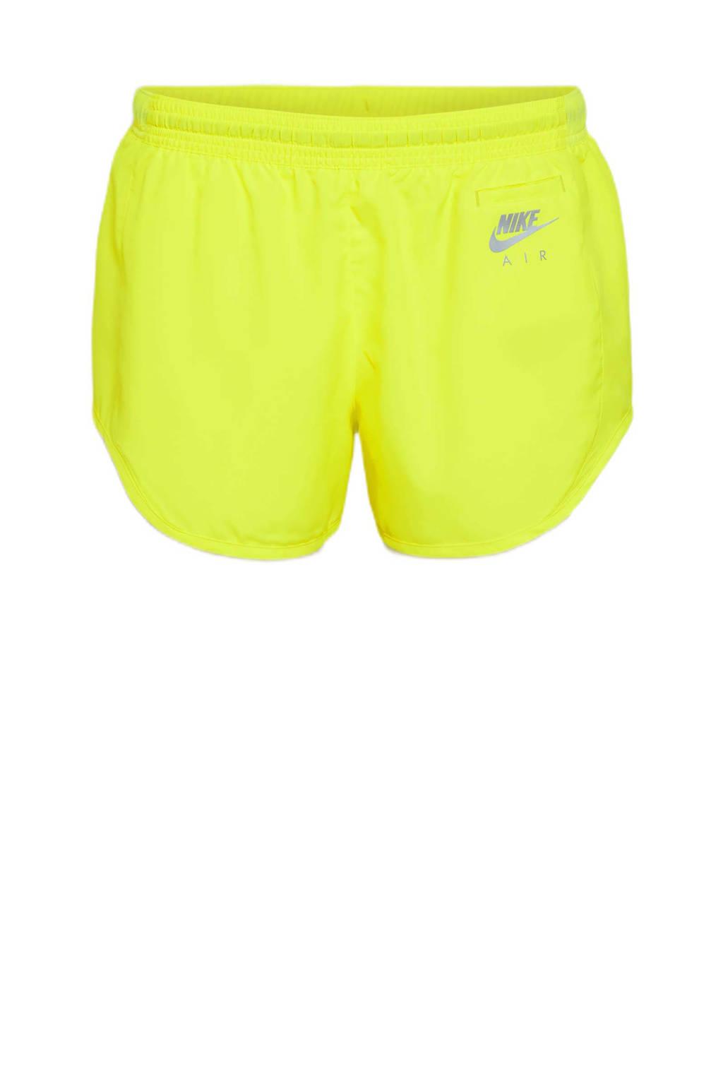 Nike hardloopshort neon geel, Neon geel