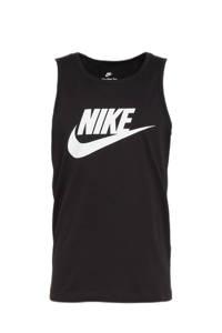 Nike singlet zwart/wit, Zwart/wit