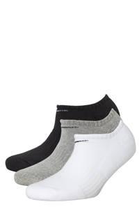 Nike   sportsokken - set van 3 wit/grijs/zwart, Wit/grijs/zwart
