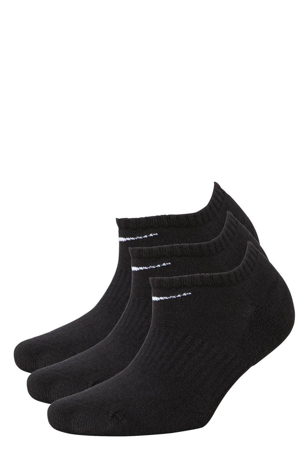 Nike   sportsokken - set van 3 wit/grijs/zwart, Zwart