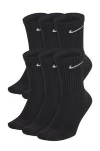 Nike sokken Everyday Crush - set van 6 zwart, Zwart