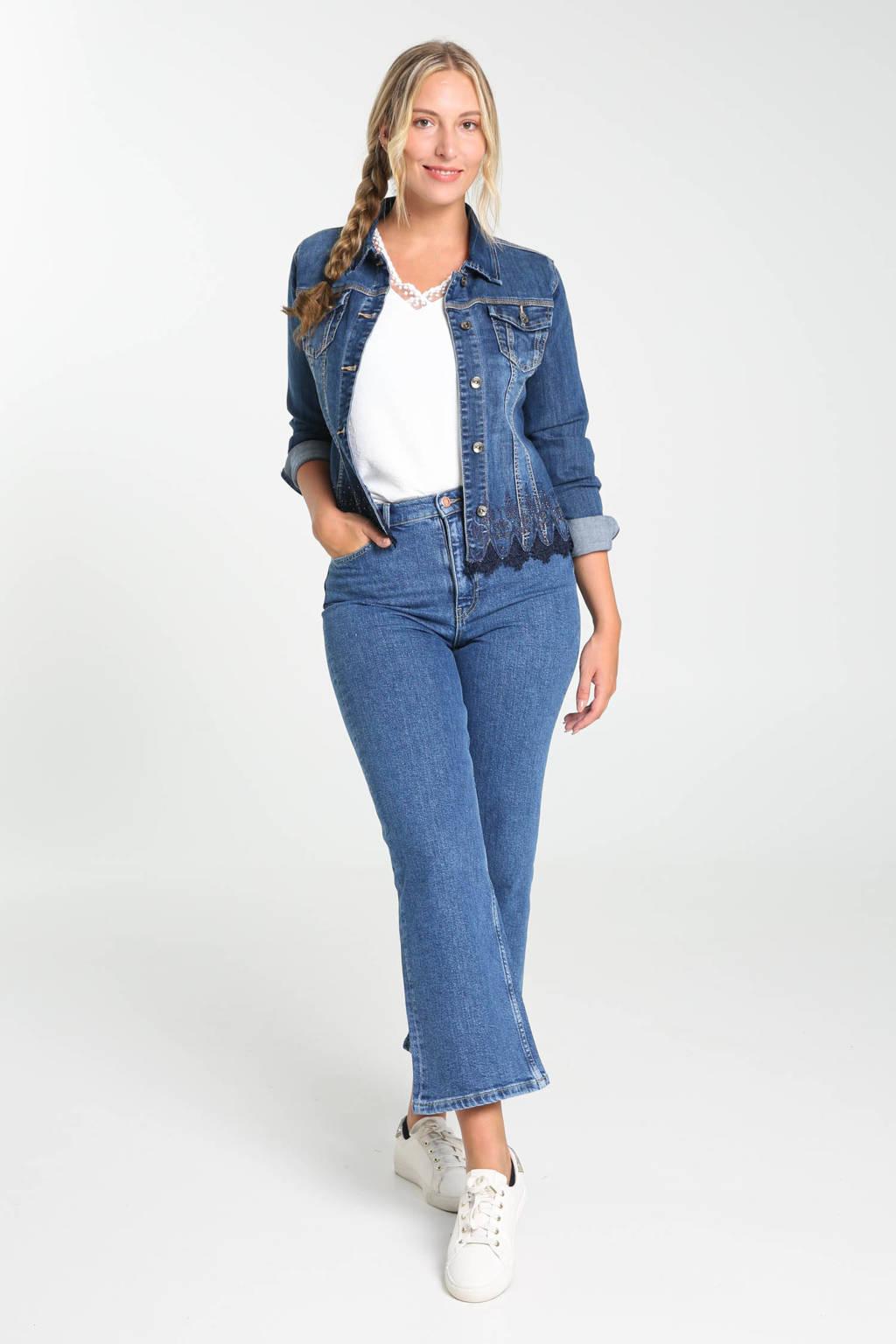 Cassis high waist wide leg jeans dark denim, Dark denim